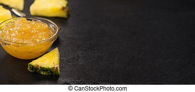 Fresh made Pineapple Jam - Some homemade Pineapple Jam as...