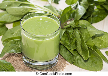 Fresh made Spinach Juice