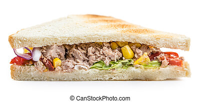 Tuna Sandwich (isolated on white)