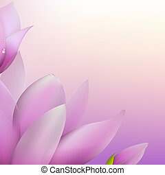 Fresh Magnolia, Vector Illustration