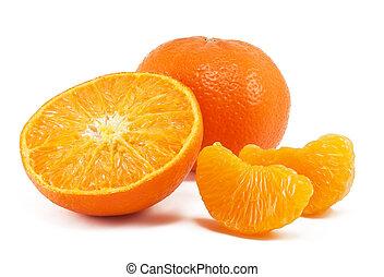fresh mandarin isolated on white background