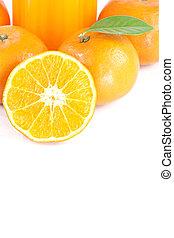 Fresh mandarin Orange. - Fresh mandarin Orange with sliced...