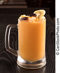 fresh Mango juice in a glass