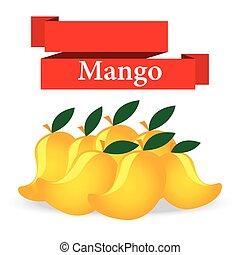 fresh mango on white background