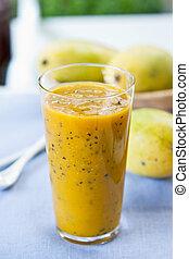 Mango with Passion fruit smoothie - Fresh Mango with Passion...