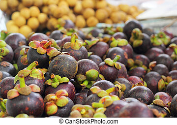 Fresh mangosteen in the Market