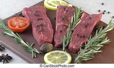 Fresh marble beef. - Marbled beef in the world most famous...