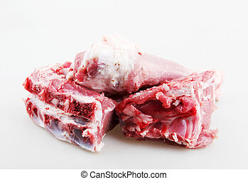 Fresh Meat Against White Background