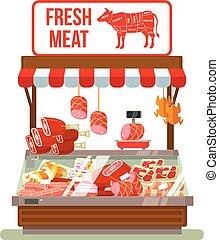 Fresh meat. Butcher shop