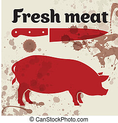 fresh meat, vector illustration