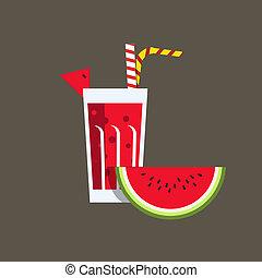 Fresh melon juice. Fresh watermelon juice. Melon juice on...