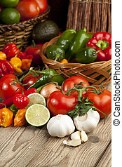 fresh mexican vegetables