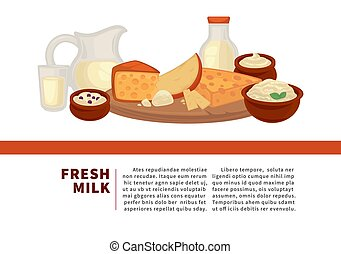 Fresh milk Internet promotional banner with sample text....