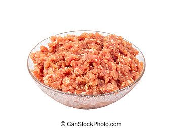 Fresh minced meat on a plate