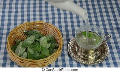 fresh mint tea prepare