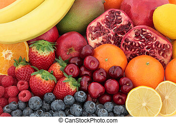 Fresh Mixed Fruit Background