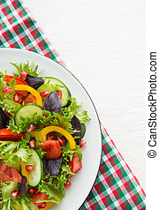 Fresh mixed vegetable salad