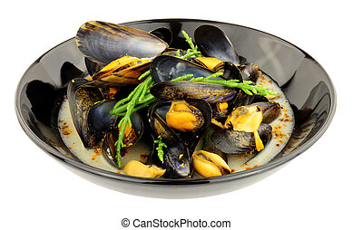 Fresh Mussels In White Wine Sauce