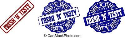 FRESH 'N' TESTY Scratched Stamp Seals