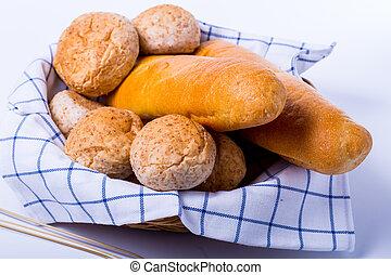 Fresh natural bread food