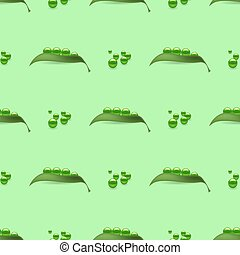 Fresh Natural Green Peas Seamless Pattern
