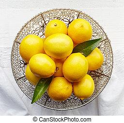 fresh natural lemons