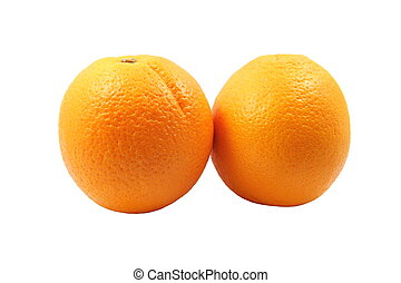 Navel orange - Fresh Navel orange on white background