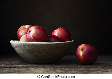 Fresh Nectarines in Bowl