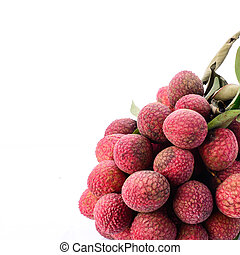 Fresh of litchi fruit isolated on white background