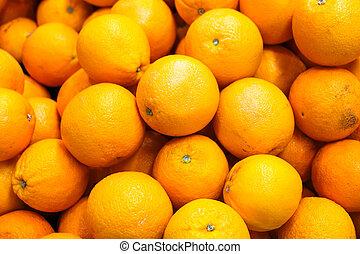 fresh orange for sell in the morning market.
