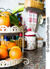 Fresh Orange Fruit in the Kitchen