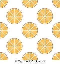 Fresh orange fruit slices on white-Orange slice fruit pattern Citrus