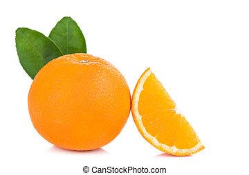 fresh orange isolated on white background