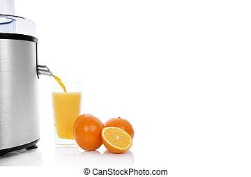 Fresh orange juice background.