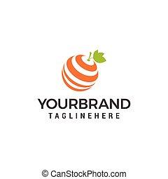 Fresh orange logo Design Template