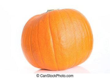 Fresh orange pumpkin isolated on white background