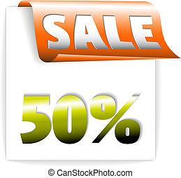 Fresh orange sale ribbon / paper - bookmark