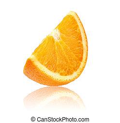 fresh orange sliced isolated on white background