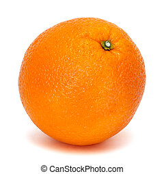 fresh orange over white background