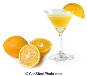 Fresh oranges juice