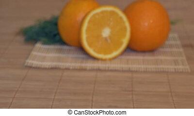 Fresh Oranges on Table