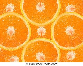 Fresh oranges - Orange slices in fresh colors