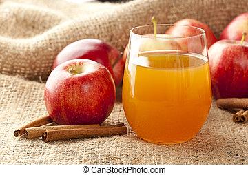 Fresh Organic Apple Cider with Apples and Cinnamon