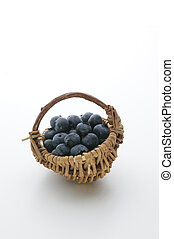fresh organic blueberries in a basket