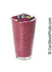 Fresh Organic Blueberry Smoothie