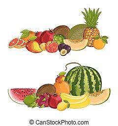 Fresh organic fruit isolated composition