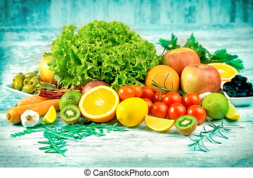Fresh organic fruits and vegetables for your healthy lifestyle