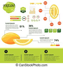 Fresh Organic Infographics Natural Fruits Growth, Agriculture And Farming