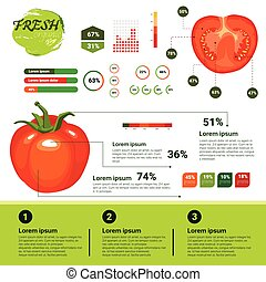 Fresh Organic Infographics Natural Vagetables Growth,...