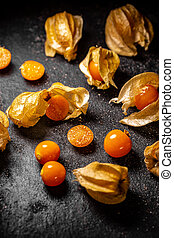 Fresh organic physalis fruit